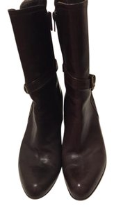 Charles David Size 8.5 M High Heel Leather Brown Boots
