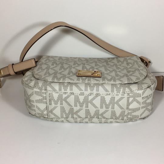 Michael Kors Logo Gold Mk Cross Body Bag