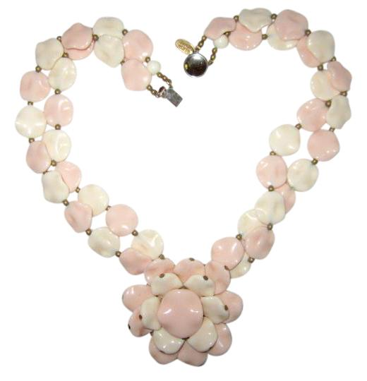 Preload https://img-static.tradesy.com/item/21326204/miriam-haskell-pink-and-white-petals-pendant-double-floral-signed-necklace-0-2-540-540.jpg