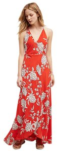 Yumi Kim Floral Silk Maxi Anthropologie Dress