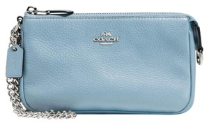 Coach Wristlet in Silver / Cornflower