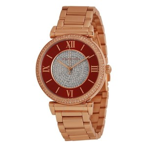 Michael Kors Michael Kors MK3377 Caitlin Red Crystal Rose Gold Tone Ladies Watch