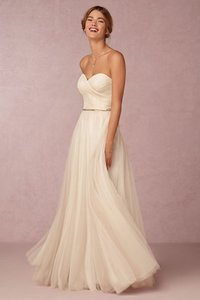 BHLDN Ivory Poly-tulle; Polyester Lining Calla Gown Traditional Wedding Dress Size 2 (XS)