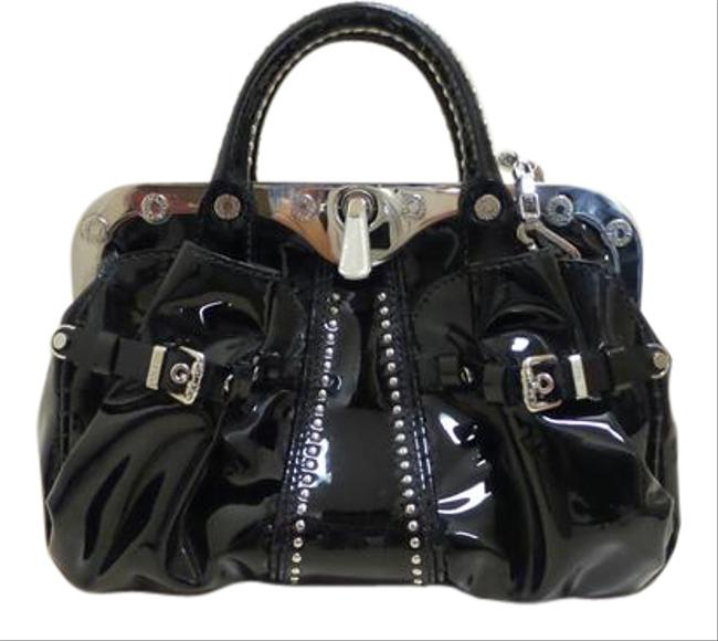 Versace Gianni Couture Black Patent Leather Satchel Versace Gianni Couture Black Patent Leather Satchel Image 1