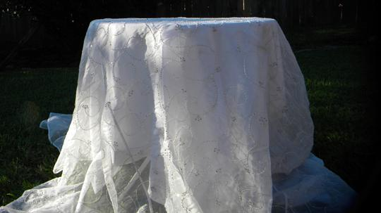 White With Beads Tablecloth Image 3