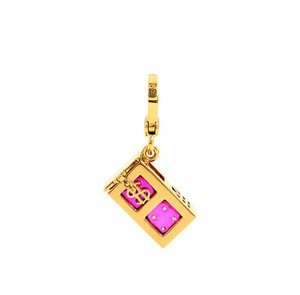 Juicy Couture Juicy Couture Dice Charm Pink Pave Rare Retired