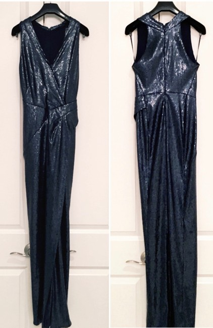 Donna Karan NY Sequined Gown Flattering Stretchy Dress Image 4
