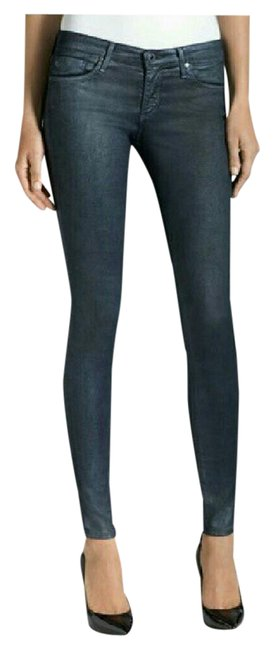 Item - Blue Coated The Absolute Leggings Extreme Skinny Jeans Size 26 (2, XS)
