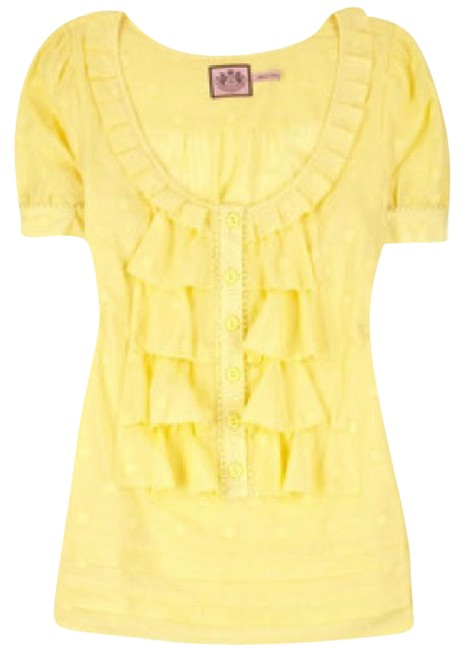 Preload https://img-static.tradesy.com/item/21326779/juicy-couture-yellow-front-blouse-size-2-xs-0-3-650-650.jpg