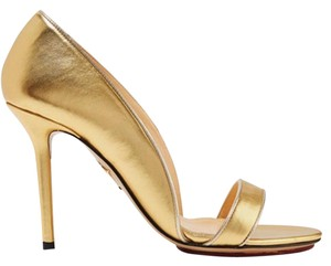 Charlotte Olympia Open Toe Gold Sandals
