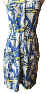 Lilly Pulitzer Capris cornflower blue, yellow and white