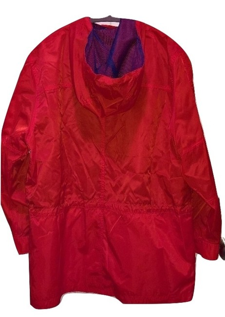 Lauren Ralph Lauren Squall Nylon Rain Coat Orange & Royal Blue Jacket