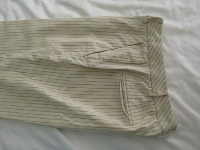 i. e. Pinstripe Elegant Made In Korea Summer Trouser Pants pale yellow