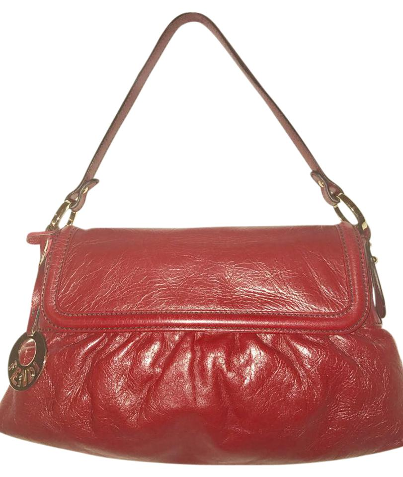 Fendi Zucca Chef Hobo Red Leather Shoulder Bag - Tradesy 3915fb2863