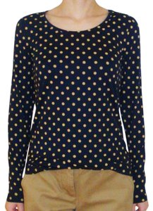Ann Taylor T Shirt navy/yellow