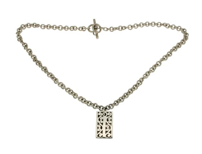 "Lois Hill 925 Sterling Silver Rectangle Floral Size 17"" Necklace Lois Hill 925 Sterling Silver Rectangle Floral Size 17"" Necklace Image 1"