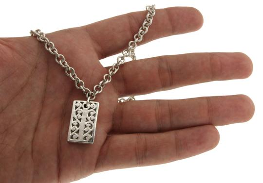 Lois Hill Lois Hill 925 Sterling Silver Rectangle Floral Necklace Size 17
