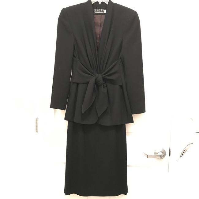 Item - Black Wool Crepe Light Weight Slimming Fit Skirt Suit Size 4 (S)