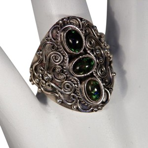 Other New, Genuine Rare Chalama Black Opal Sterling Silver Ring