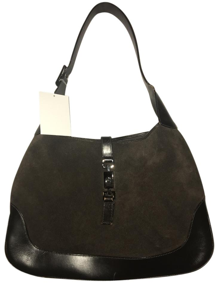 c06473b8bcd Gucci Jackie Shoulder Brown Suede Leather Hobo Bag - Tradesy