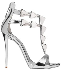 Giuseppe Zanotti Pumps Open Toe Zip Silver Sandals