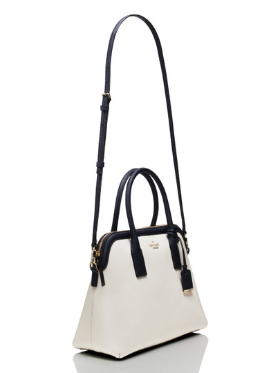Kate Spade Cameron Street Cement/Offshore Crosshatched Leather Margot Style # Pxru5955 Satchel in Cement / Offshore