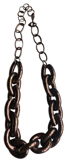 Preload https://img-static.tradesy.com/item/21327503/brown-chocolate-metal-chain-link-necklace-0-1-540-540.jpg