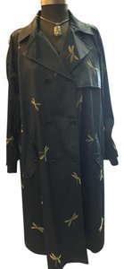 Armani Collezioni Double Breasted Notched Pockets Dragonfly Trench Trench Coat