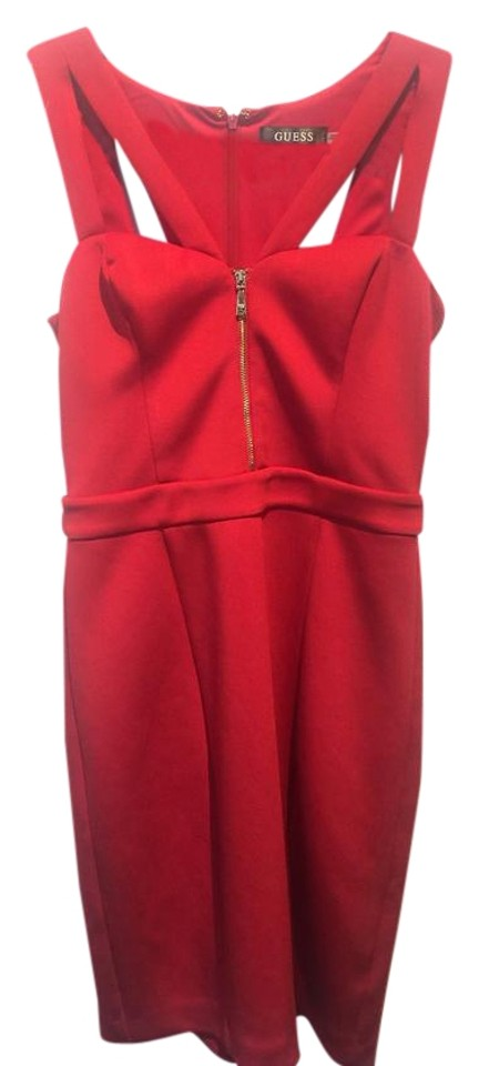 18ff33ff Guess Hot Red Short Cocktail Dress Size 0 (XS) - Tradesy