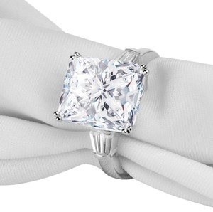Other ladies 5ct radiant cut SONA simulated diamond ring