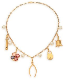 Tory Burch Tory Burch Short Charm Necklace Charms Whistle Wishbone Turtle Flower