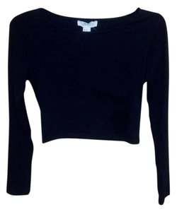 Forever 21 Crop-top Tight T Shirt Black