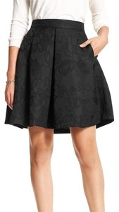 Banana Republic Skirt Jacquard Black