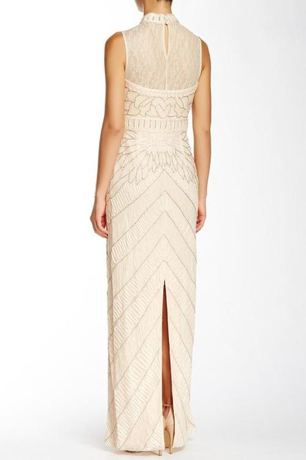 Sue Wong High Neck Bejeweled Sheath Gown Dress