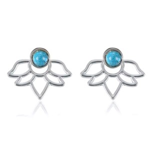 Other Turquoise Lotus Flower Earring Jackets
