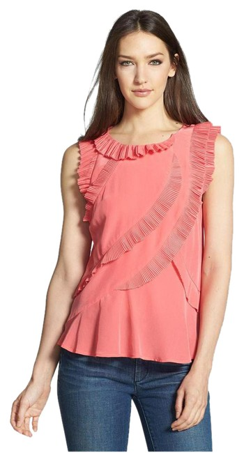 Preload https://img-static.tradesy.com/item/21327793/marc-by-marc-jacobs-pink-ruffled-blouse-size-2-xs-0-1-650-650.jpg