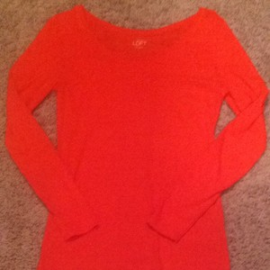 Ann Taylor LOFT T Shirt Bright Orange