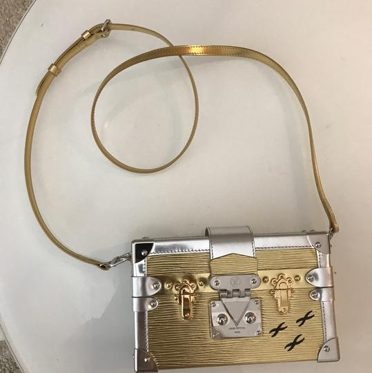 Louis Vuitton gold and silver Clutch