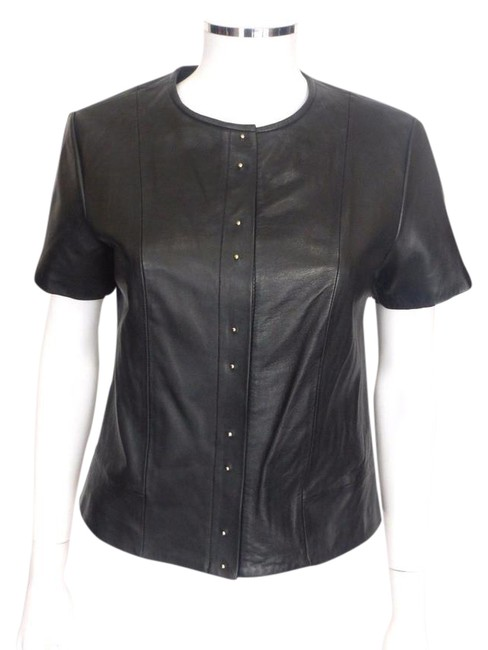 Preload https://img-static.tradesy.com/item/21327926/t-by-alexander-wang-black-leather-shirtgold-buttons-med42-blouse-size-8-m-0-1-650-650.jpg