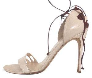Alexandra Neel Ivory & Brown Sandals