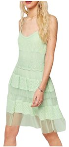 ASOS short dress Green Spaghetti Straps Lace Tiered on Tradesy