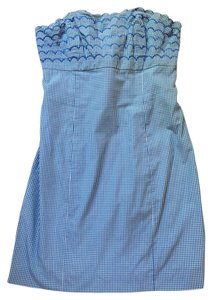 Lilly Pulitzer short dress Blue Gingham on Tradesy