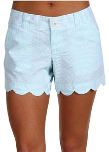 Lilly Pulitzer Mini/Short Shorts Teal Seersucker