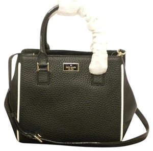 Kate Spade Maddie Kate Pxru6854 Maddie Leather Convertible Kate Tote Satchel in black