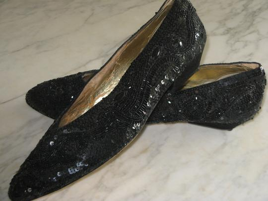 Dolce by Pierre 11wblack Low Heel Beaded&sequined Formal&dress Casual No Misssing Worn All Year Black sequin,bugle beads Formal