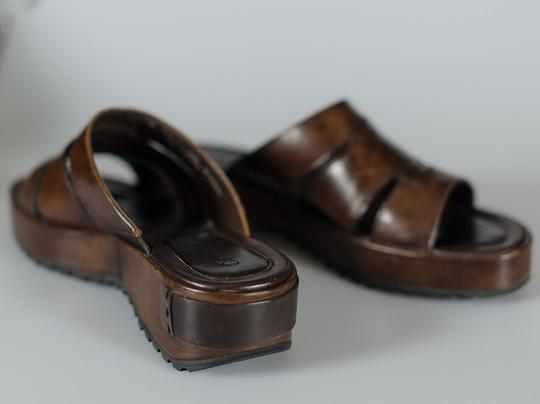 Cole Haan Leather Luggage brown Platforms