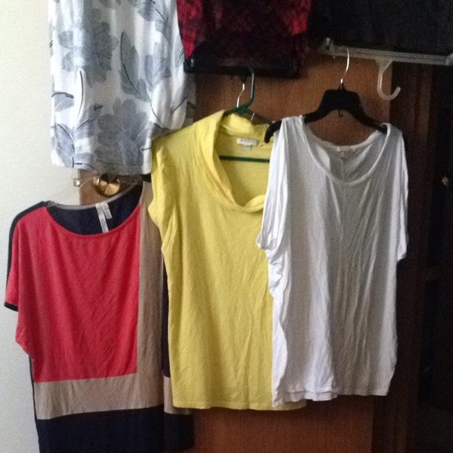 Banana Republic Top Red, Yellow, White, Blue Pink