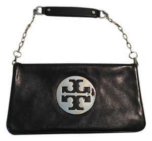 Tory Burch #toryburch#reva Black/silver Clutch
