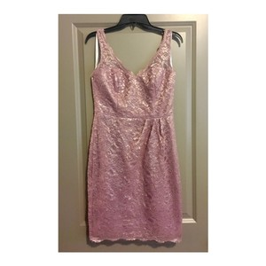 David's Bridal Rose Gold Metallic F15952 Dress