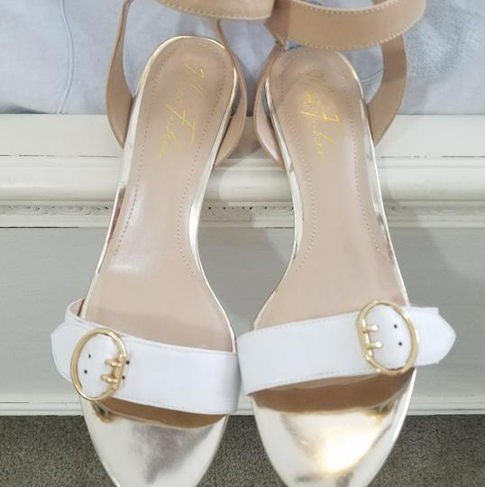 Marc Fisher Cream Sandals